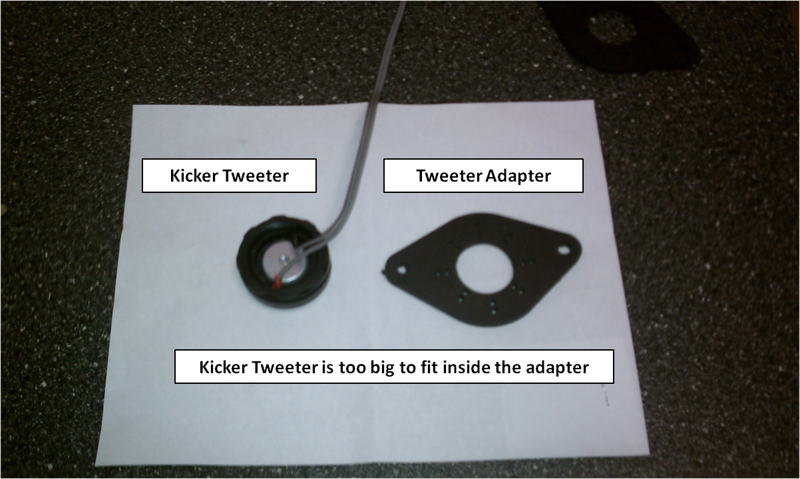 """Kicker tweeter compare to tweeter adapter from  <a href=""""http://www.car-speaker-adapters.com"""">http://www.car-speaker-adapters.com</a>"""