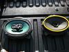 "Comparison: <br> Left: Aftermarket speaker and speaker adapter  from <a href=""http://www.car-speaker-adapters.com/items.php?id=SAK010""> Car-Speaker-Adapters.com</a> <br> Right: Factory speaker"