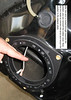 """after the wire is routed through towards the speaker, you can reinstall the rubber cover.  Now you are ready to connect the wires and mount the speaker in the adapter plate from  <a href=""""http://www.car-speaker-adapters.com"""">http://www.car-speaker-adapters.com</a>"""