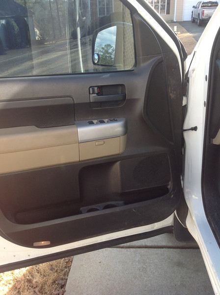 Driver door before speaker installation