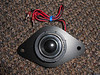 """Front view: <br> Aftermarket tweeter mounted to speaker adapter bracket   from  <a href=""""http://www.car-speaker-adapters.com/items.php?id=SAK009""""> Car-Speaker-Adapters.com</a>"""