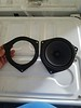 """Left: Speaker adapter ring  from  <a href=""""http://car-speaker-adapters.com/items.php?id=SAK036""""> Car-Speaker-Adapters.com</a>  <br> Right: Factory speaker"""