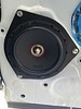 """Aftermarket speaker and speaker adapter ring   from  <a href=""""http://car-speaker-adapters.com/items.php?id=SAK036""""> Car-Speaker-Adapters.com</a>  installed on door"""