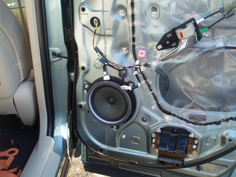 Door panel removed - factory speaker shown