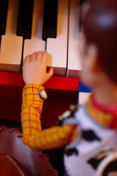 Woody on the keys.