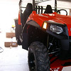 RZR on Bike Lift After Snorkel Install JUly 09 2 Weeks Old