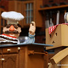 Danboard only can think of one thing and that is eatting that cake. Chef Bob is giving Danboard instructions for later but Danboard is not listening. (1/20s 100.0mm 5.6 ISO:400 @sharkbayte)