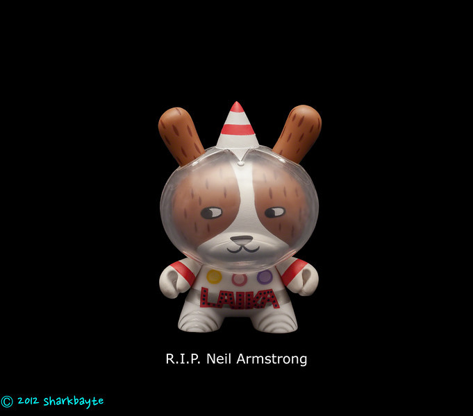 R.I.P.- Neil Armstrong<br /> R.I.P. Neil Armstrong. Thanks for everything. And to Laika the first dog in space, who sadly died in orbit, but gave us valuable information that paved the way for humans to walk on the moon and hopefully beyond. (August 26, 2012)