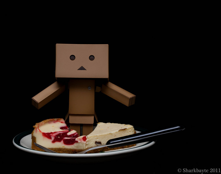 February 23, 2011-One for me and One for you. Danboard was in a wonderful mood today. Sharing cheese cake, being nice to his brother's and sister. I know this act. I have a funny feeling Danboard is preparing me for something. Day 54 #365Project @sharkbayte