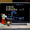 "June 28, 2011-Seeing double? As I was getting some coffee, I heard Cheburashka yelling, ""Gena come quick it's us, it's us, Gena!"" Gena got to the computer first and thought he was seeing double, then he read the caption and told Cheburashka it was their cousins in Russia. Susan and Rustem had photographed them and posted their picture for us to see. Needless to say all of the gang gathered at that point and then I was booted off the computer until they all had their turn playing. Oy vey what a day! (Day 179:365 @sharkbayte)"