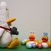 (74/365) Daisey and Bubba Duck have their family portrait taken by the famous Walter T. Duck (no relationship)