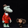 March 27, 2011-Cheburashka needs to find a home. The human that found Cheburashka couldn't keep him. He figured the best place that could care for him would be the zoo. But the zoo keeper said he didn't have room for Cheburashka and sent little Cheburashka on his way. Scared and alone Cheburashka started to cry. He must have been crying loudly because it drew the attention of one of the zoo workers name Gene. Gene had overheard the humans talking about what to do with little Cheburashka and felt bad that he would be alone and without a home. Gene is a kind, hard worker and lonely man without family or friends. Gene knows what it is like to be alone in the world and felt that he could help Cheburashka and end his loneliness as well. Perhaps they can become a family, would Gene be able to take care of Cheburashka, what do we know about Gene…so many questions…but that is for another day. (87:365 @sharkbayte)