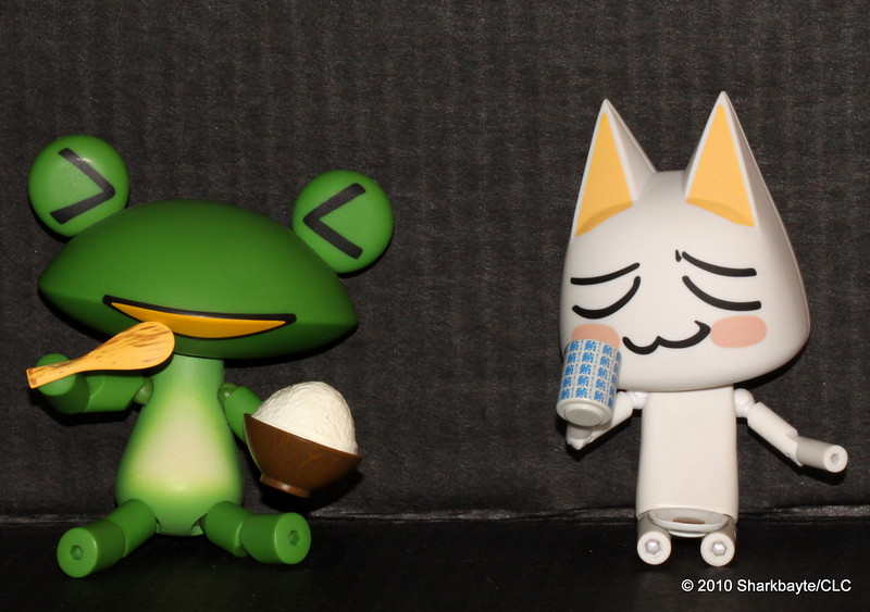 Ricky and Toro enjoying way too much food and drink.