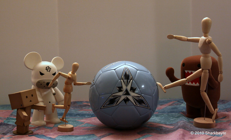 Day 162- #worldcup football/soccer 2010. Not quite ready for any serious play yet. But they are hopeful one day they will play. #365Project Hope is what keeps dreams alive. (2010.06.11)