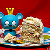 Bossy Bear's eyes are bigger than his stomach. He ate the entire piece of cake!! He swears he shared it with the gang. Hmm...#365Project Day 333 (2010.11.30)@sharkbayte