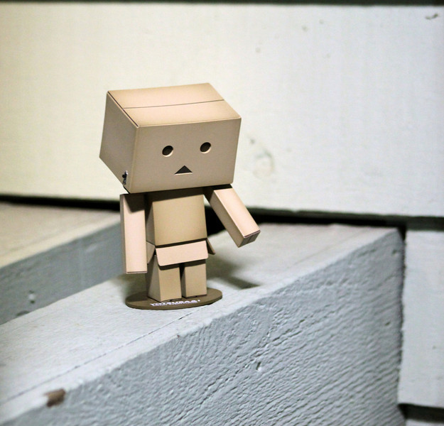 03.27.2010 Day 86 #365Project-Danbo trying to explain why he was found outside late at night....