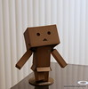 """03.31.2010-day 90 #365Project-Danboard practicing a new dance """"The Robot Shuffle""""."""