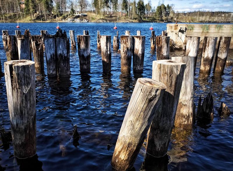 Piles In Lake Näsi