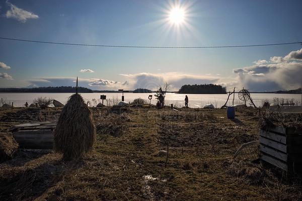 Hay Bale And Sun