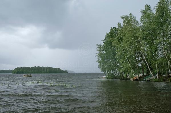 Lake Näsi At Rain IV