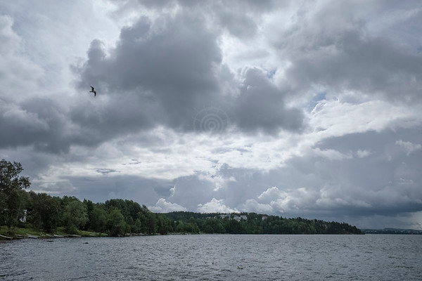 Lake Näsi At Rain VI