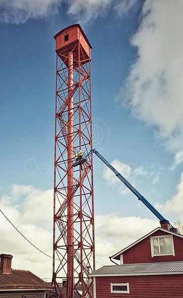 Shot tower at Pispala. Will be renovated at 2020.  Pispalan Haulitorni, remontoidaan 2020.