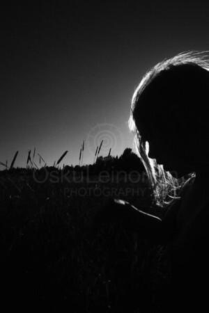 Summer Run II (Silhouette Of A Girl)