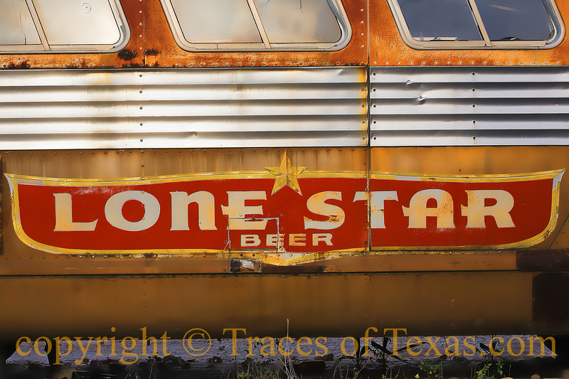 Title:  I Hope You are Thirsty<br /> <br /> Comments: I dreamed this old bus was filled with Lone Star beer. No bottles, no cans ---- just a river of frothy malt.  I swam in the river of beer like a porpoise channeling its inner Dylan Thomas.   <br /> <br /> Location: Austin