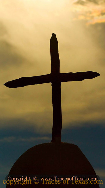 Title:   Sign of the Cross<br /> <br /> Comments: Rustic cross <br /> <br /> Location: Alamo Village