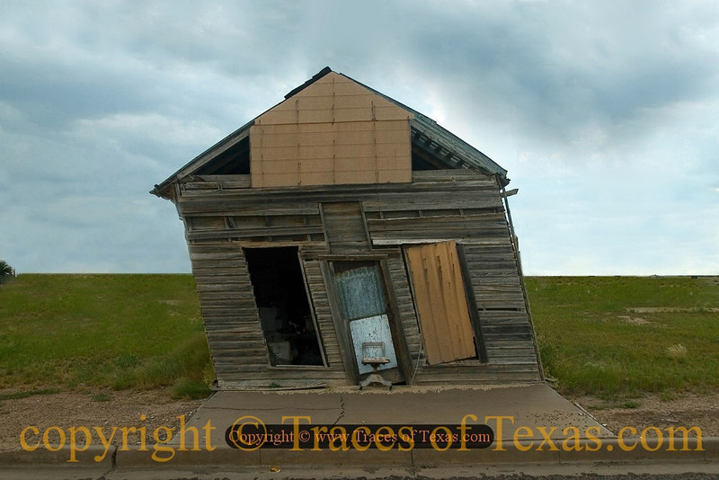 So in Pisa there is a Leaning Tower, eh? That's Nothing! In Texas We have the Leaning Shed of Barstow!