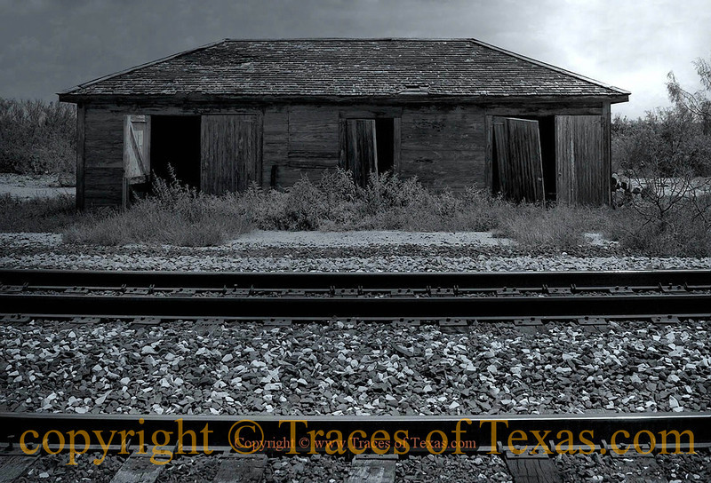 Title:   Ghost of the Machine<br /> <br /> Comments: When I lose myself completely in a Texas landscape. <br /> <br /> Location: The former train station in the ghost town of Pumpville.