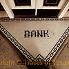 Title:   You Can Take That to the Bank<br /> <br /> Comments: Tile inlay leading into the bank. <br /> <br /> Location: Oakwood