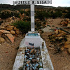 Title:   Jesus R. Vega: Buried in the Desert<br /> <br /> Comments:  Another west Texas grave. <br /> <br /> Location: Terlingua