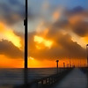 Title:   Pelican on a Stick, Part Deux<br /> <br /> Comments: Perchance to dream of sunrise and a foggy pier and a giant redfish and live bait ...<br /> <br /> Location: Port Aransas, Texas