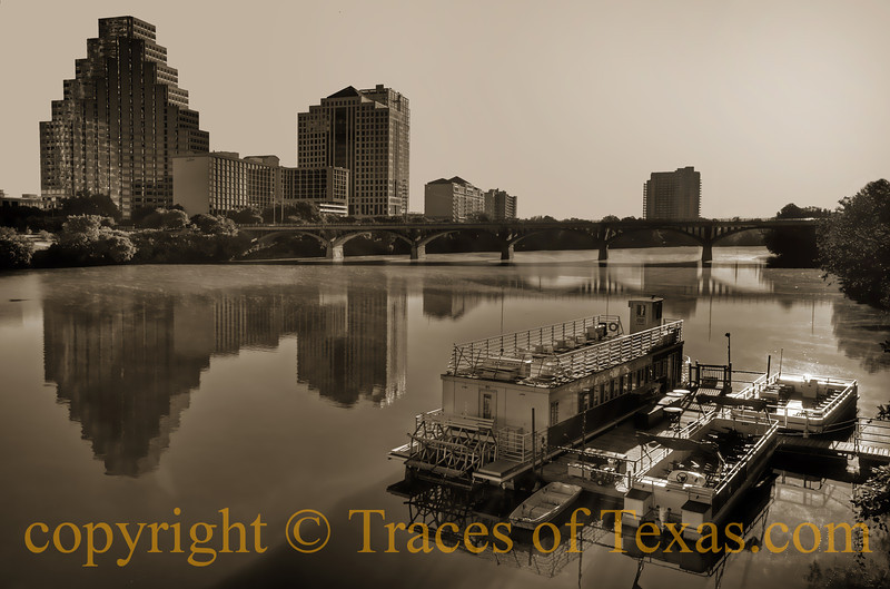 Title: City in Sepia<br /> <br /> Comments: Trying to capture the soul of Austin is the essence of spirit.  <br /> <br /> Location:  Austin