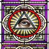 Title:   Eye of God<br /> <br /> Comments: I love the brilliance, the color --- and the weirdness. This is in one of the painted churches near Schulenberg. <br /> <br /> Location: Schulenburg, Texas