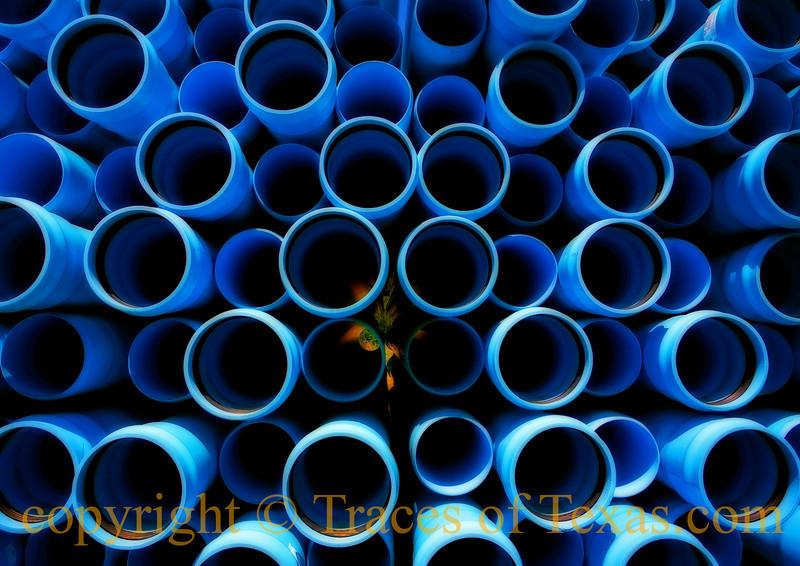 Giant Blue Soda Straws