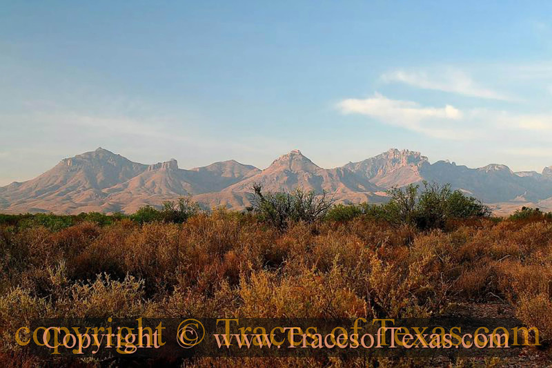 Title:   On a Clear Day, You Can See Forever<br /> <br /> Comments: The Chisos mountains on a clear morning. <br /> <br /> Location: Big Bend
