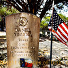 Title:  Sergeants Put you Through the Mill. They Just Drill and Drill and Drill Until They Fade Away <br /> <br /> <br /> Comments: I have noticed that, in many rural cemeteries hereabouts, many of the gravestones of veterans who died for their country have Spanish surnames. <br /> <br /> Location:  near Kerrville