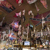 Title:   1734 Bras on the Ceiling, 1734 Bras on the Ceiling ... Take one down, Pass it Around<br /> <br /> Comments: The 11th Street Bar in Bandera has thousands of women's bras and panties tacked to the ceiling --- most inscribed by the women who left them. Do you think they have a good time at this place?<br /> <br /> Location: Bandera, Texas