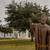 Title: The Holy See<br /> <br /> Comments:  This statue of Pope John Paul II stands outside the achingly beautiful Immaculate Conception of The Blessed Virgin Mary in Panna Maria. <br /> <br /> Location: Panna Maria