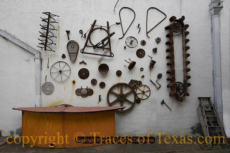 Title:  New Texas School of Art ... Abstract Farm Implementalism <br /> <br /> Comments: You put some ranchers together and ask them to make art, well .... you deserve what you get!<br /> <br /> Location: Johnson City