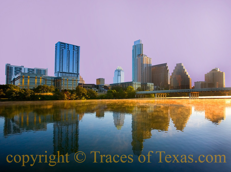 Title: Guess Where I Was Last Sunday Morning?<br /> <br /> Comments: I love being awake at dawn and riding my bike down to Town Lake (now Lake Lady Bird) when all of Austin is still sleeping. When I got down there last Sunday, the fog was just rising off the water.  I thought about you and, wistfully, kicked a stone along the path in front of me.<br /> <br /> Location: Austin
