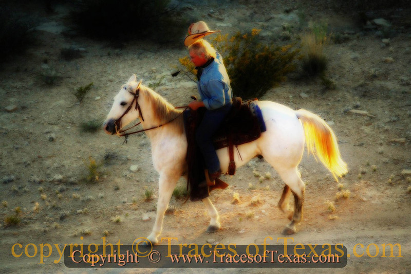 Title:   Horseman, Pass By<br /> <br /> Comments:  Visions of a Cowboy<br /> <br /> Location: Terlingua