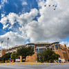 Title:  Eruption<br /> <br /> Comments: Jets flying over Darrell K. Royal Memorial Stadium at UT Austin<br /> <br /> Location:  Austin