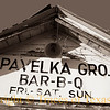 """Title:   Do NOT Adjust Your Monitor!<br /> <br /> Comments: Your monitor is fine. It's just that Pavelka's is a little """"off level.""""  And to think that I remember when this place made some damn fine bar-b-q.<br /> <br /> Location: Seaton, Texas"""