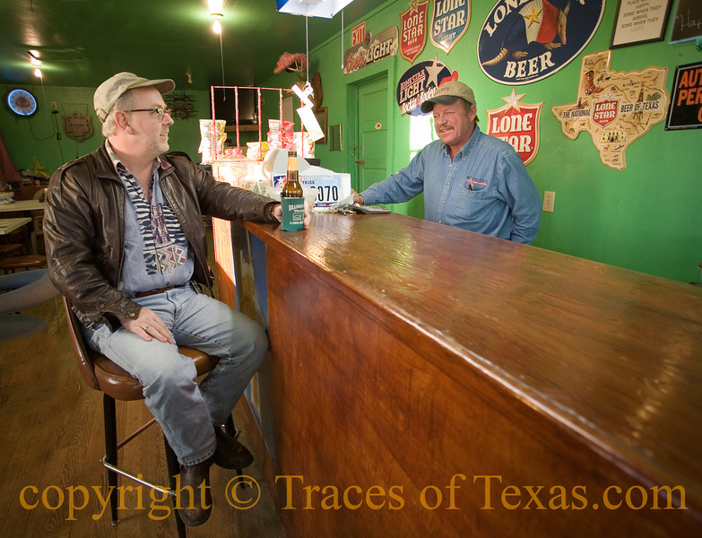 Title: My Mind is Achin', My Heart is Longin' to be Home in a Texas Bar<br /> <br /> Comments:  George serves the coldest Shiner Bock beer in the entire county. I was glad to make his acquaintance.  Really, really glad. <br /> <br /> Location:  Ammansville