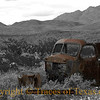 Title:   Chinati Cadillac, part deux <br /> <br /> Comments: A little selective coloring. <br /> <br /> Location: Chinati Mountains, West Texas