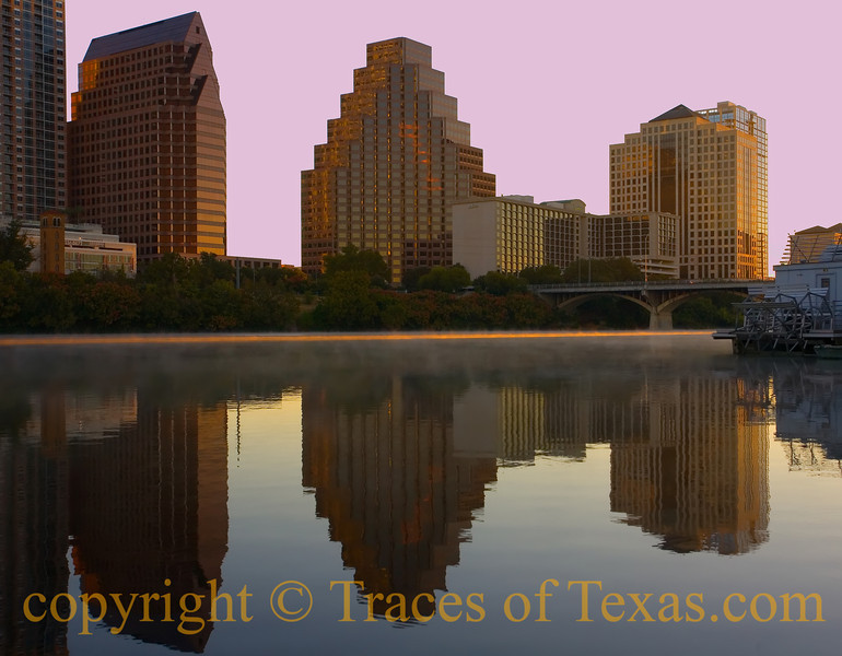 Title:  I Want to Reach Out and Touch the Flame<br /> <br /> Comments: Three seconds after daybreak, a pastel sky, and you beside me.  <br /> <br /> Location: Downtown Austin