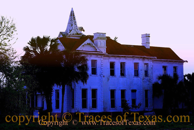 Title:   Sunrise on a Proud Lady <br /> <br /> Comments: Nine hurricanes and 132 years later, the Rabb Mansion is falling down. How many more dawns will she survive to see? <br /> <br /> Location:  Brownsville